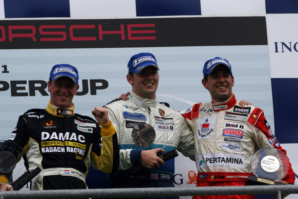 van Lagen/Edwards/Bleekemolen on the podium
