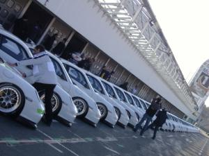 60 Porsche 997 GT3 Cup cars lined up